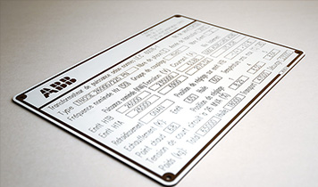 Nameplates, rating plates